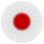 Rounded Japan flag
