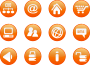 icons orange web candy