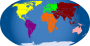 Continents colored />