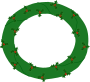 wreath of evergreen with red berries 01 Thumbnail