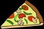 Fast Food, Snack, Pizza, Pepperoni Mushroom